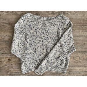 gap marled blue sweater